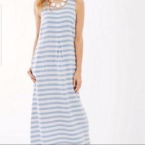 J. Jill Love Linen Striped Maxi Dress S
